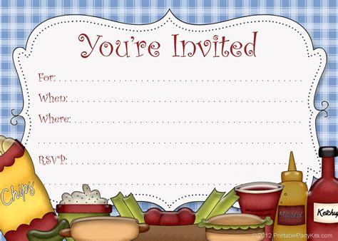 printable party invitations  printable picnic