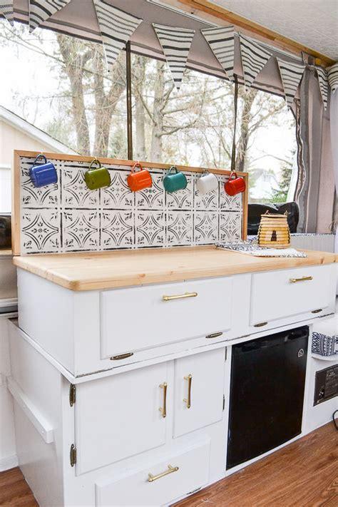 rock kitchen backsplash rv interior updates decoratingspecial 1976