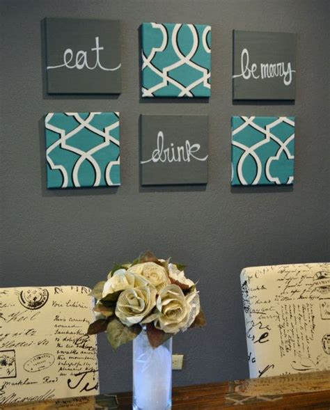 kitchen wall decor ideas diy eat drink be merry hmm may need to order this in my dining room colors house pinterest