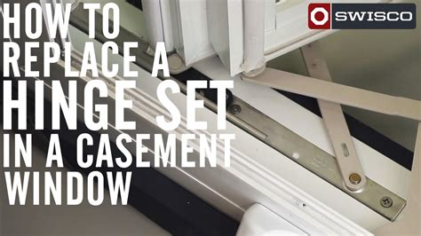 replace hinge set casement window p youtube