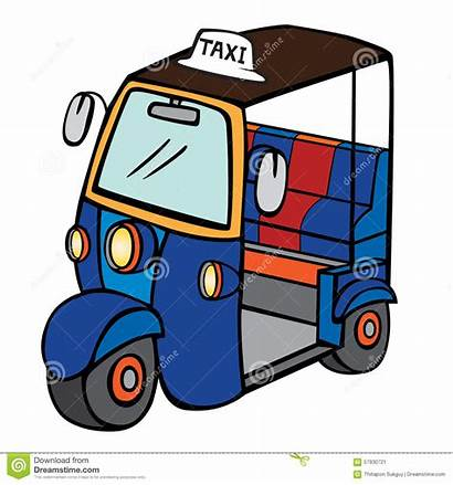 Thailand Tuktuk Taxi Cartoon Clipart Tuk Bangkok