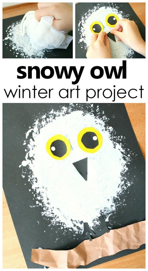 snowy owl winter craft for fantastic amp learning 674 | Snowy Owl Winter Art Project for Kids artforkids kidsactivities prek