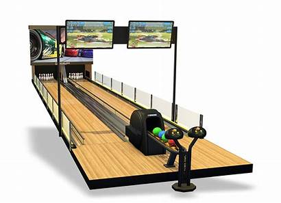 Bowling Mini Rollerball Lanes Alley Lane System