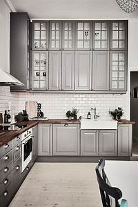 inspiring kitchens you won39t believe are ikea gray With what kind of paint to use on kitchen cabinets for ikea metal wall art