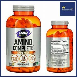 Now Foods Sports Amino Complete Protein Blend Dietary Supplement 360 Veg Capsule