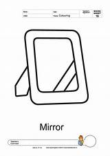 Printable Template Mirror Coloring Printables Sheets sketch template