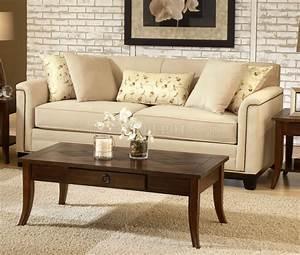 Beige, Fabric, Contemporary, Living, Room, Sofa, U0026, Loveseat, Set