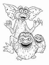 Gremlins Coloring Monster Pages Drawing Gizmo Luna Sketch Template Getdrawings sketch template