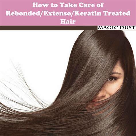 How To Take Care Of Rebondedextensokeratin Treated Hair