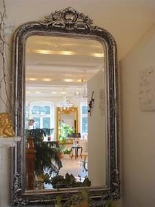 Großer Spiegel Silber : gro er wandspiegel 150 x 86 cm barock spiegel antik silber holzrahmen ebay ~ Whattoseeinmadrid.com Haus und Dekorationen