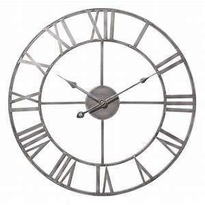 Horloge En Metal : horloge en m tal d 45 cm zinc maisons du monde ~ Teatrodelosmanantiales.com Idées de Décoration