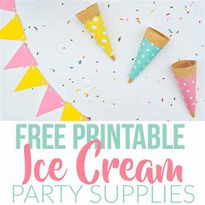 Summer Ice Cream Party Using Dollar Store Items & Free