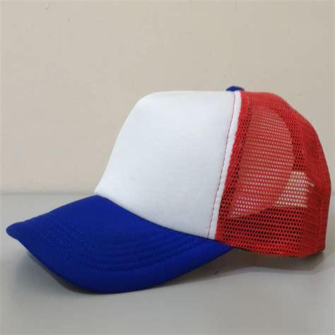 topi trucker jaring polos putih cek harga terkini