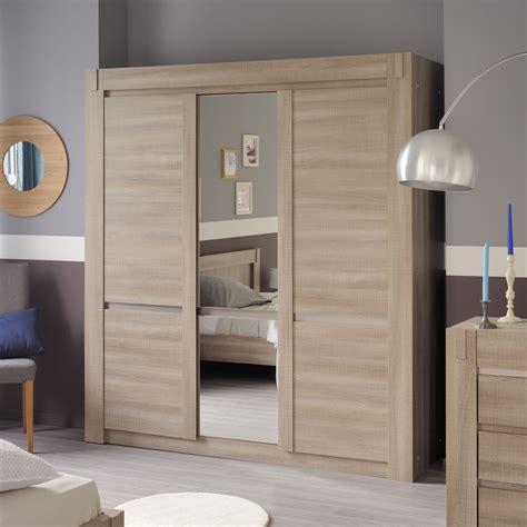 armoire chambre but armoire de chambre blanche avec miroir raliss com