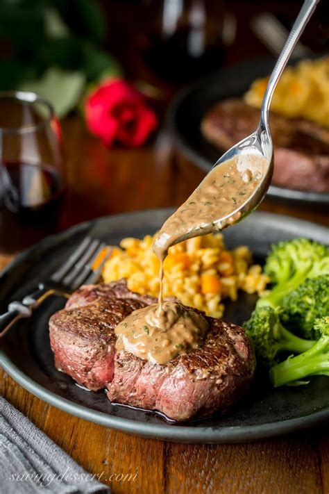 Nobu matsuhisa seared beef tenderloin with tangy, spicy red chile sauce and even spicier orange chile sauce is a nod to his days cooking in lima, peru. Beef Tenderloin Steaks with Herb Pan Sauce   Recipe ...