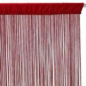 Rideau Voilage Rouge : rideau fil 90x200cm rouge ~ Teatrodelosmanantiales.com Idées de Décoration