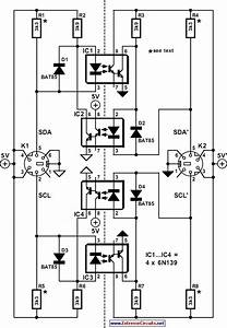Electrical Isolation For I2c Bus Circuit Diagram