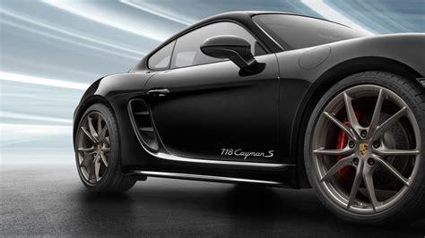 Porsche 718 4k Wallpapers by 2018 Porsche 718 Cayman Black Color 4k Hd Wallpaper