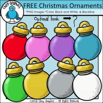 christmas ornaments clip art set chirp graphics