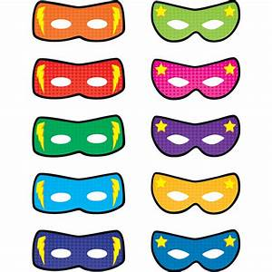 Superhero Masks Accents - TCR5591 Teacher Created Resources