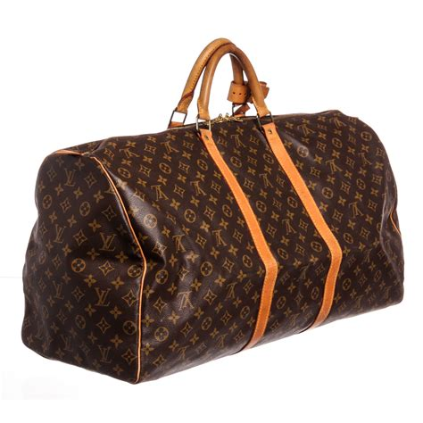louis vuitton monogram keepall  duffle bag vintage