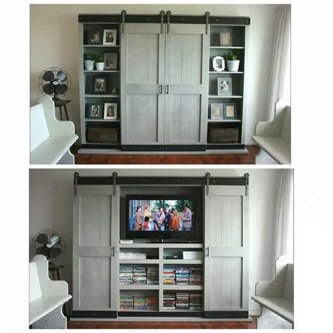 Tv Cabinet With Doors by White Sliding Door Cabinet For Tv Diy Projects