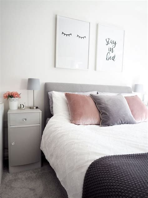 Bedroom Decor Ideas In Grey by Bedroom Tour Pink And Grey Bedroom Decor On Style