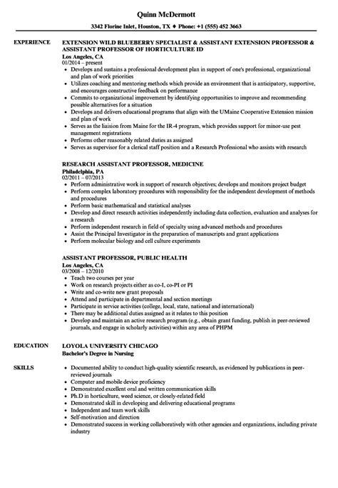 Assistant Resume by Resume For Assistant Professor Bijeefopijburg Nl