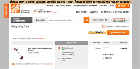 Home Depot Online :  Home Depot -- How To Get 10
