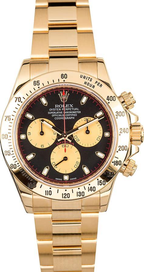 Rolex Daytona 18K Yellow Gold 116528 Black Dial