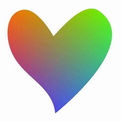 Heart Clipart Rainbow Colorful Shaped Colored Cookie