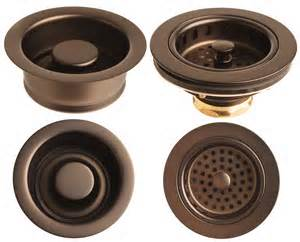rubbed bronze sink garbage disposer flange and basket strainer set ebay
