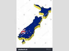 Vectors 3d Map New Zealand Stock Vector 60635491