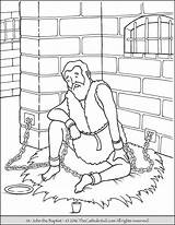 Baptist Coloring John Pages Catholic Jail Saint Bible Printable Sheets Imprisoned Saints Jesus Prison Peter Sheet Sunday Zechariah Elizabeth Death sketch template