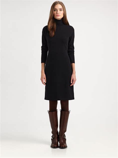 Ralph Lauren Blue Label Woolcashmere Sweater Dress in Black   Lyst