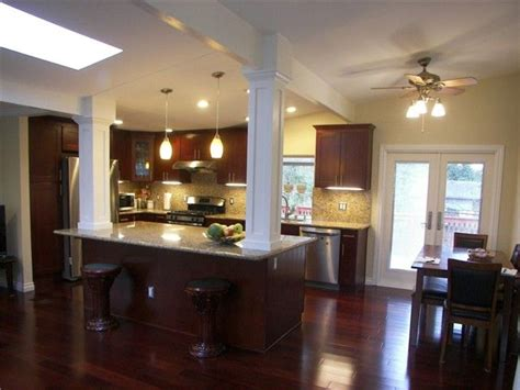 Split Level Kitchen Ideas by Kitchen Wall Removed In Split Level Home Columns And