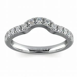matching trellis diamond wedding ring in white gold With matching wedding rings white gold