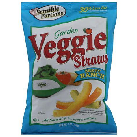 garden veggie straws sensible portions zesty ranch garden veggie straws 7 oz