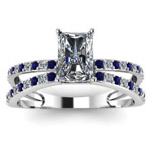sapphire engagement ring radiant blue sapphire engagement ring engagement rings review