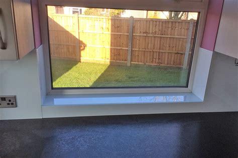 Window Sill Colours by Arctic White Glass Splashback Window Sills Glass