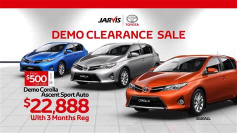 Toyota Clearance Sale by The Jarvis Toyota Demo Clearance Sale Is On Now
