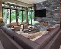 family room ideas Modern Organic Home by John Kraemer & Sons in Minneapolis, USA