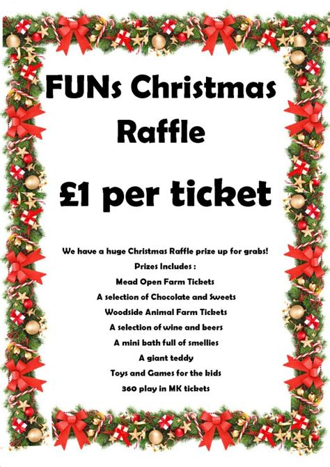 funs christmas raffle prize draw families united network