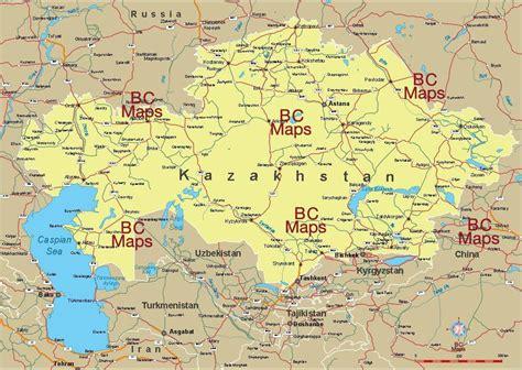 Kasachstan Karte, Kasachstan Städte anzeigen (zentral ...
