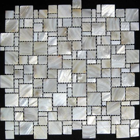 Pearl Mosaic Bathroom Tiles by Of Pearl Tile Kitchen Backsplash Mop064 Pearl White