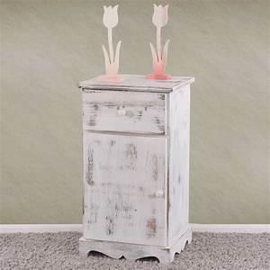 Beistelltisch Weiß Vintage : kommode beistelltisch nachttisch telefontisch 63x35x29cm shabby look vintage wei ~ Yasmunasinghe.com Haus und Dekorationen