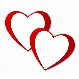 Two red hearts — Stock Photo © pdesign #1750584