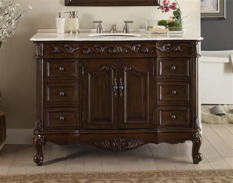 Adelina 42 Inch Antique Bathroom Vanity, Fully Assembled