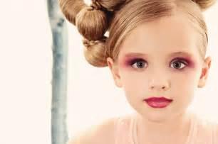 Little Girls Wearing Red Lipstick