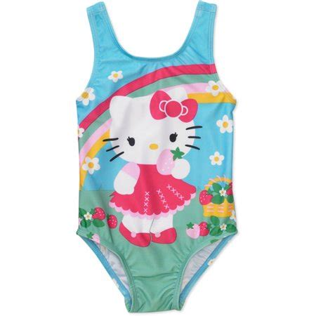kitty baby girls  piece rainbow daisy swimsuit